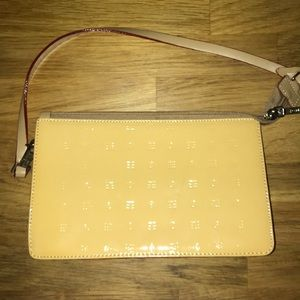 Arcadia yellow leather small purse